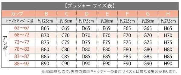 脇肉キャッチャーサイズ表